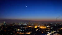 Moon & Venus Over Zagreb Skyline
